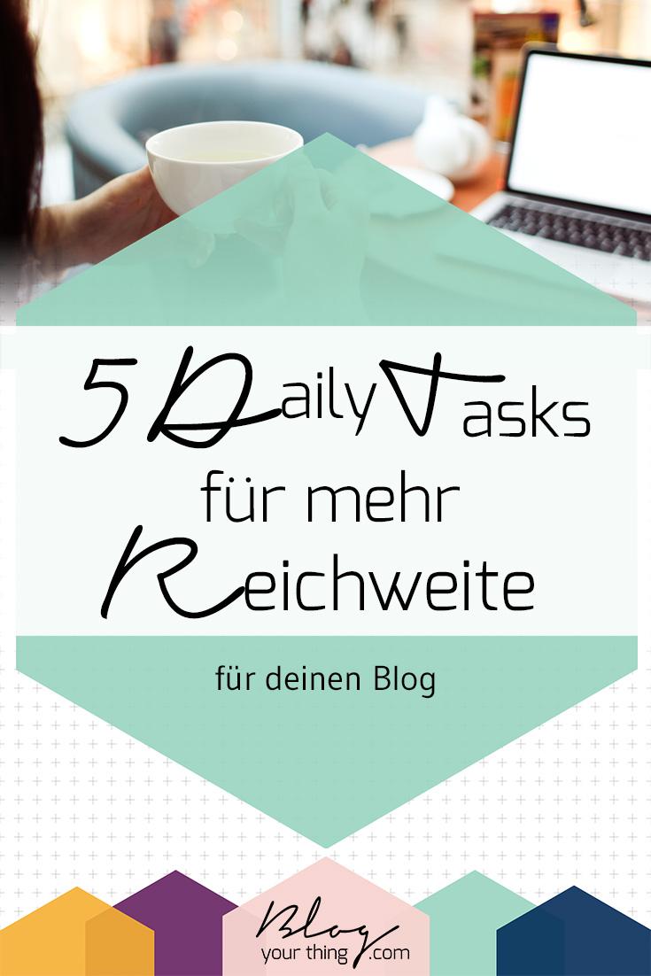 Du möchtest mehr Besucher auf deinem Blog haben? Mit diesen 5 kurzen Aufgaben die du jeden Tag erledigen kannst klappt's!