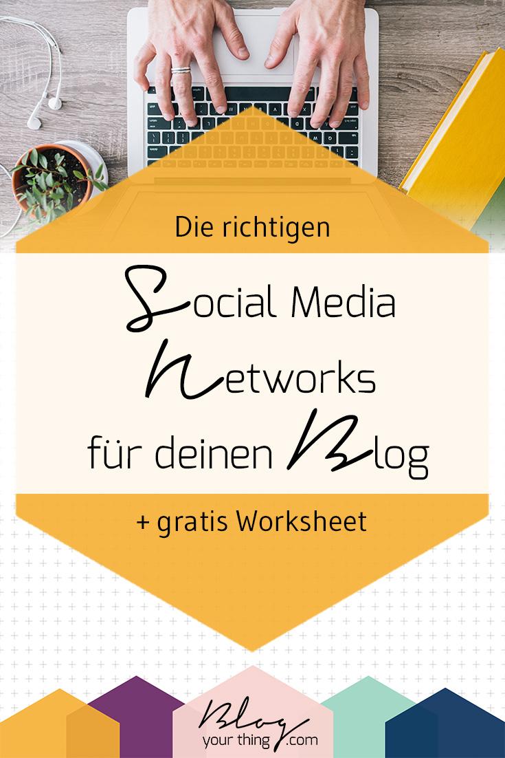 Nutzt du die richtigen Social Media Kanäle für deinen Blog? Mit diesem gratis Worksheet findest du es heraus!