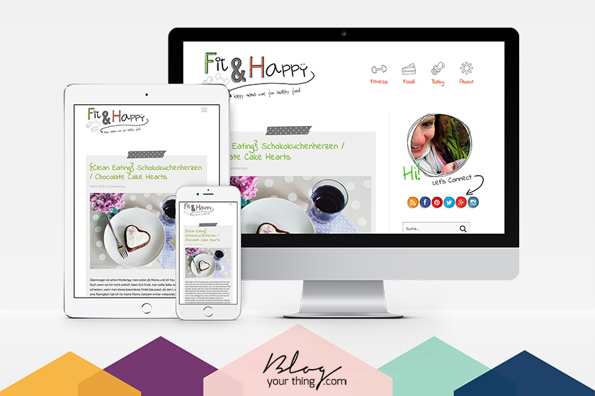 Just Launched: Fit & Happy - Showcase | Blog Your Thing