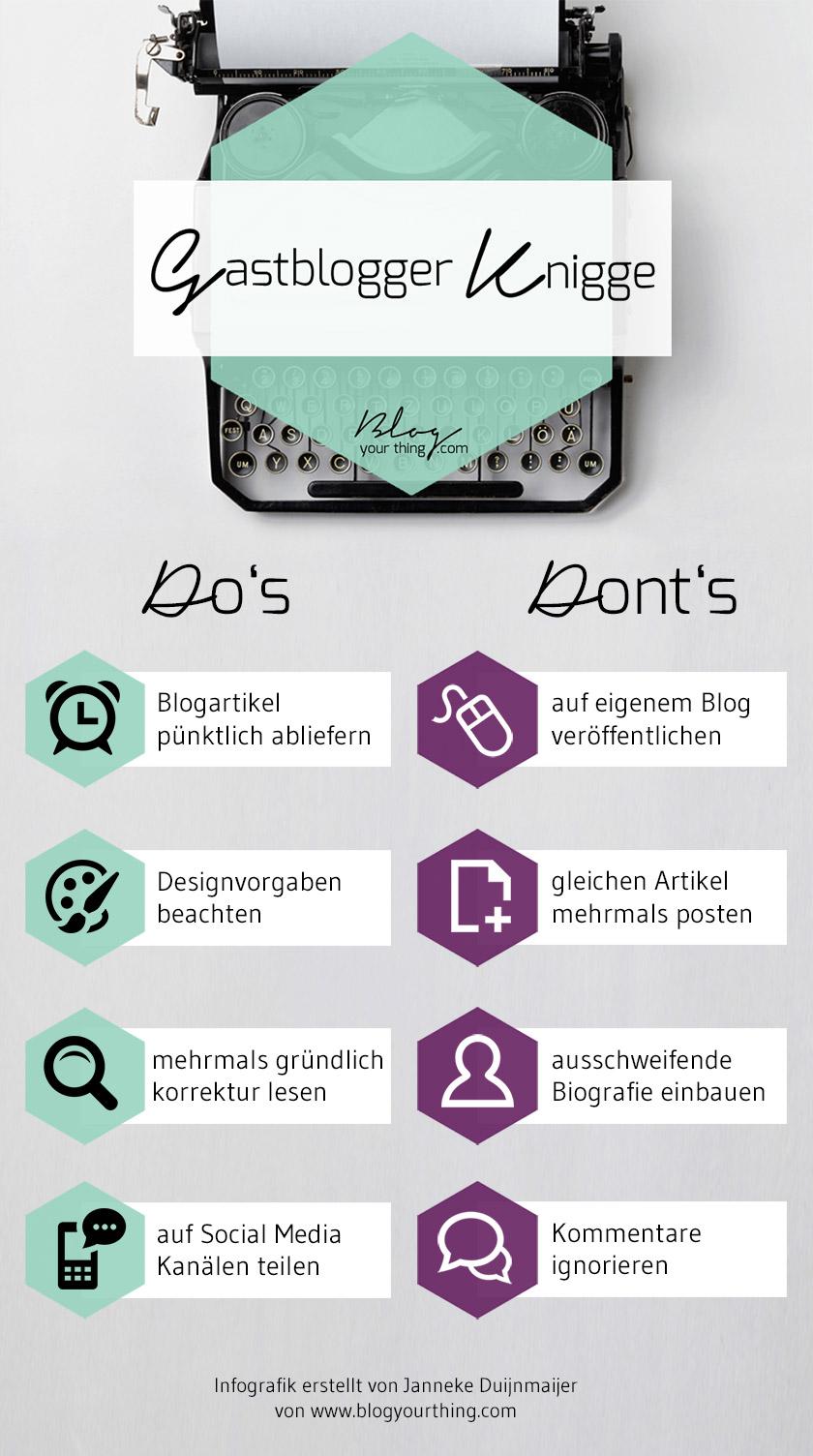 Gastblogger Knigge - Do's and Don'ts beim Gastbloggen - Infografik