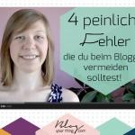 Mini Blog Booster #1: 4 peinliche Fehler beim Bloggen die du vermeiden solltest