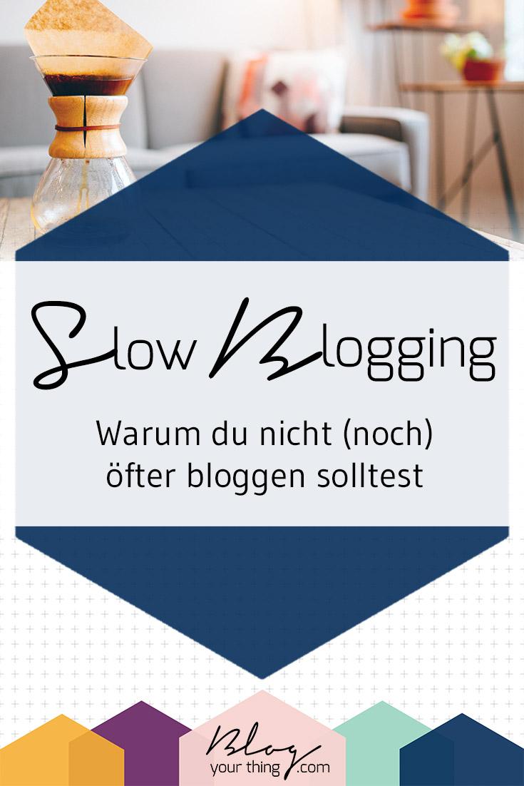 """Der Gedanke öfter zu Bloggen und mehr Traffic zu bekommen klingt verlockend, stimmt aber nicht ganz. Auch """"Slow Blogging"""" hat seine Vorteile!"""