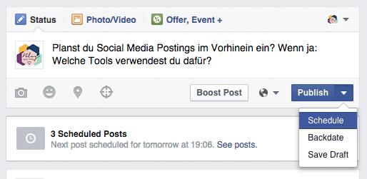 Mini Blog Booster #4: 3 unverzichtbare gratis Social Media Tools - Facebook