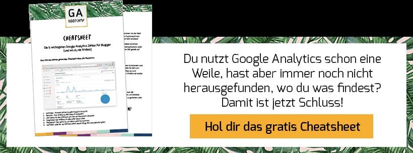Google Analytics Cheatsheet - Banner