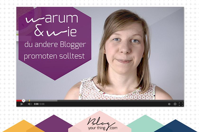 Promotest du schon andere Blogger? In diesem Mini Blog Booster erkläre ich dir warum und wie du das machen solltest!
