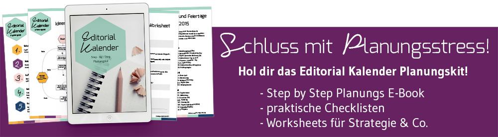 Editorial Kalender Planungskit - Step by Step E-Book