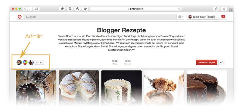 Pinterest für Blogger: Group Board