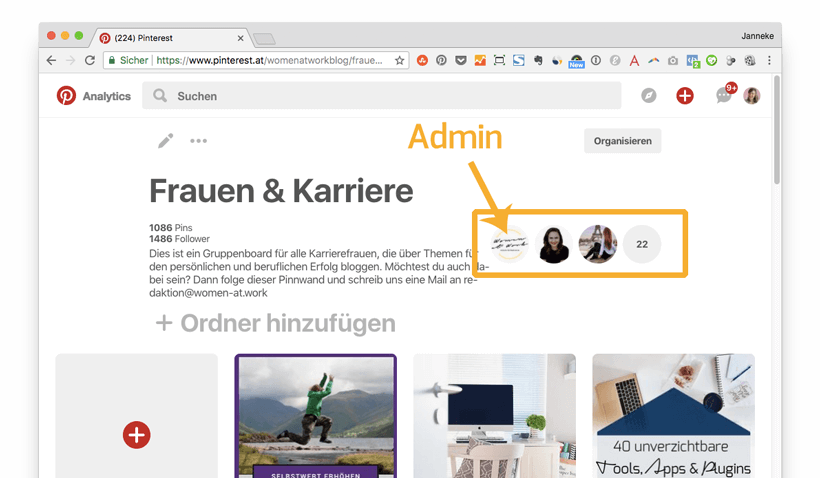 Pinterest für Blogger: Group Board
