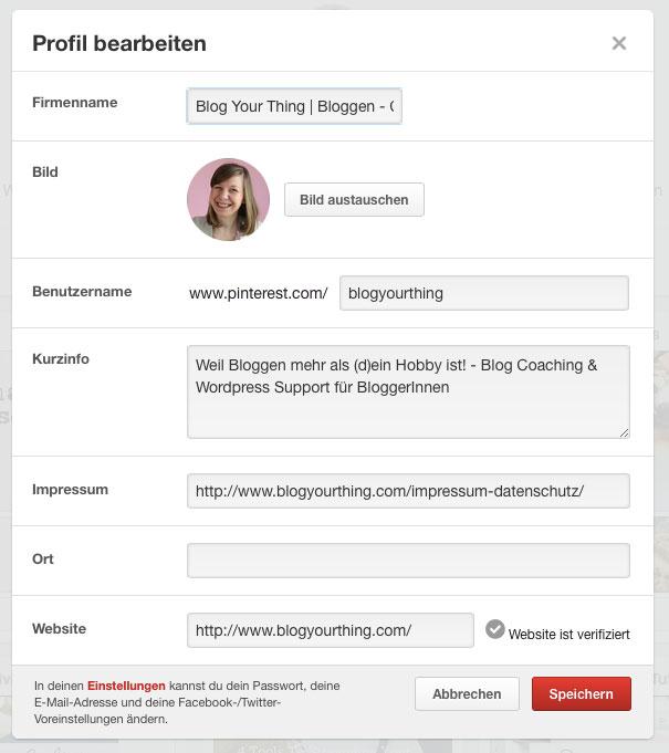 Pinterest-Profil