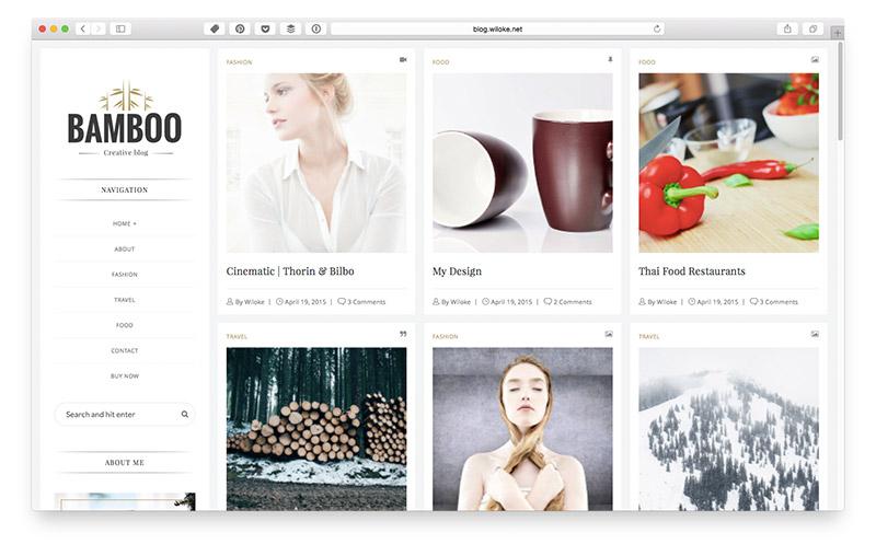 Wordpress Themes für Food & Lifestyle Blogger: Bamboo