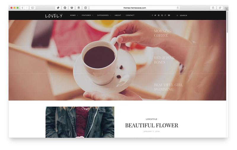 Wordpress Themes für Food & Lifestyle Blogger: Lovely