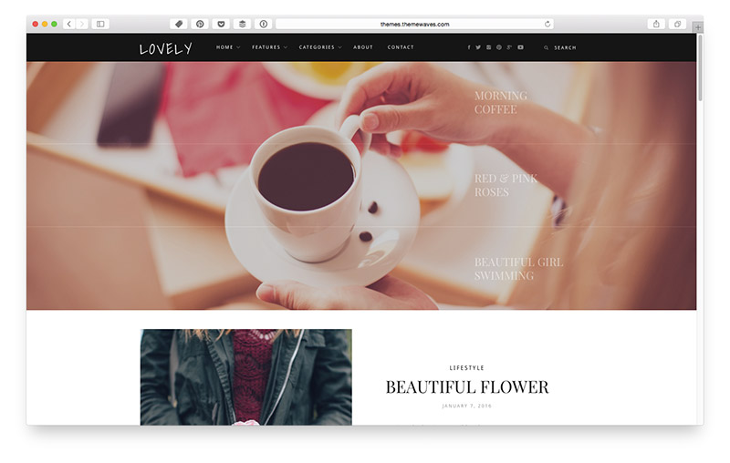 Wordpress Themes für Food & Lifestyle Blogger: Lovely