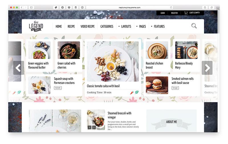 Wordpress Themes für Food & Lifestyle Blogger: Neptune