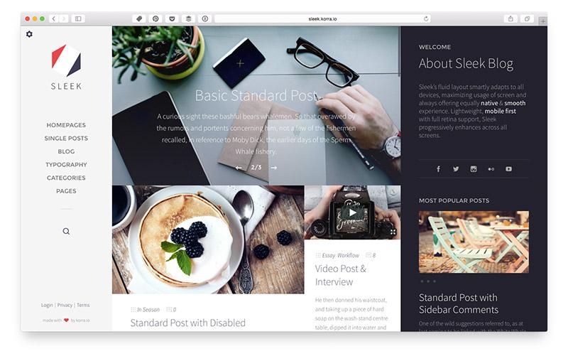 Wordpress Themes für Food & Lifestyle Blogger: Sleek