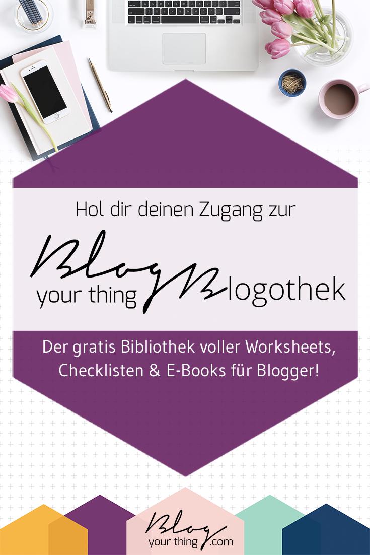 Die Blogothek ist eine Sammlung voller gratis Worksheets, Checklisten und E-Books für Blogger die ihren Blog noch erfolgreicher machen wollen und/oder Geld damit verdienen wollen!