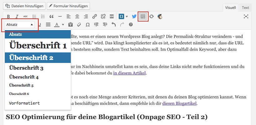 SEO Grundlagen für Blogger: So formatierst du Zwischenüberschriften richtig