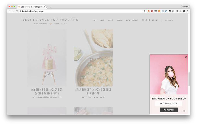 Blog Leser zu Newsletter Abonnenten machen - Anmeldeformular Platzierung: Scrollbox
