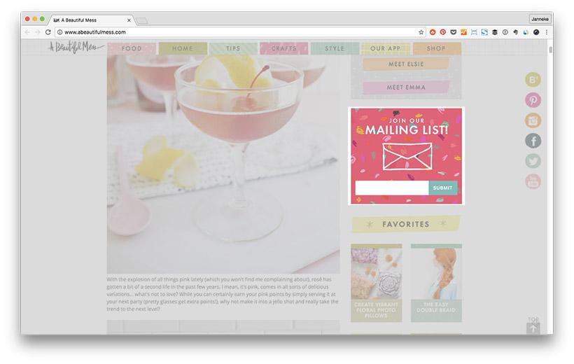 Blog Leser zu Newsletter Abonnenten machen - Anmeldeformular Platzierung: Sidebar