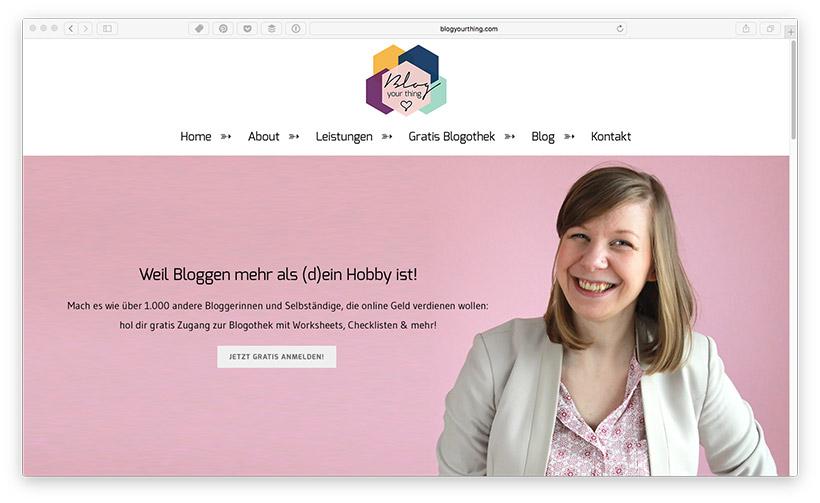 Blog Leser zu Newsletter Abonnenten machen - Anmeldeformular Platzierung: Startseite
