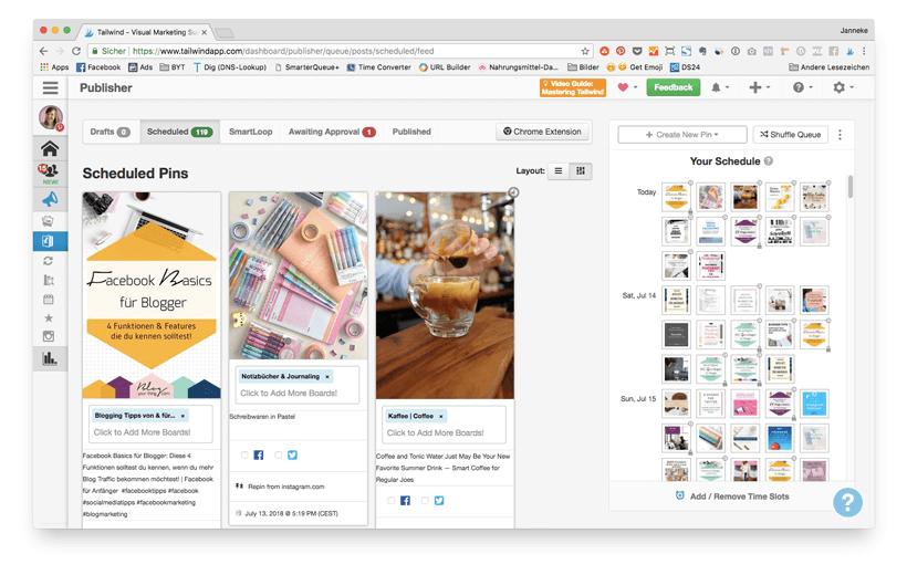 Bloggen automatisieren: Tailwind hilft dir beim Pinterest Management für deinen Blog