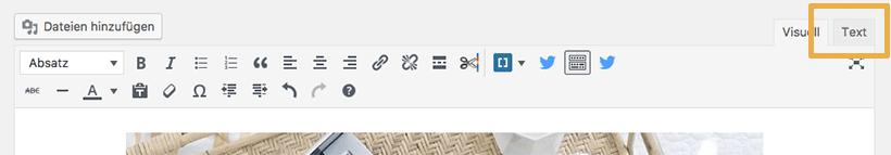 How To: So versteckst du ein für Pinterest optimiertes Bild - in den Textmodus wechseln