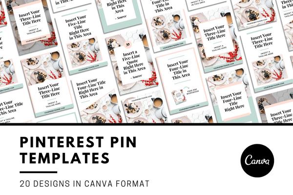 Pinterest Vorlagen für Canva bei Creativemarket