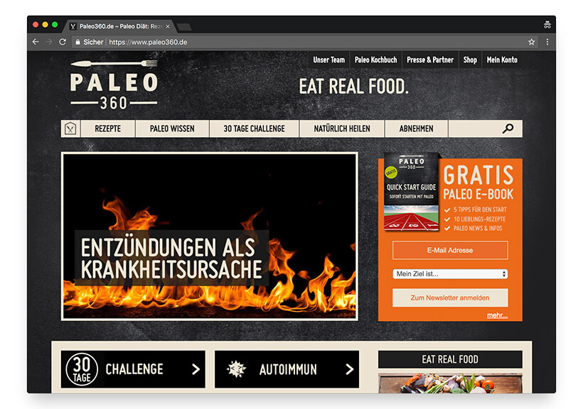 Screenshot: Paleo360.de