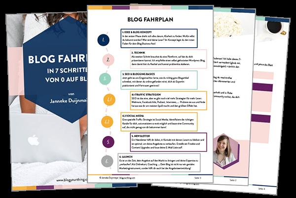 Blog Fahrplan