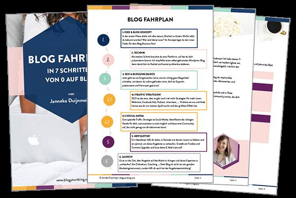 Blog Fahrplan - in 7 Schritten von 0 auf Blog