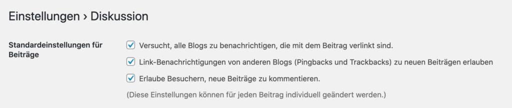 Blogging Glossar: Pingback aktivieren