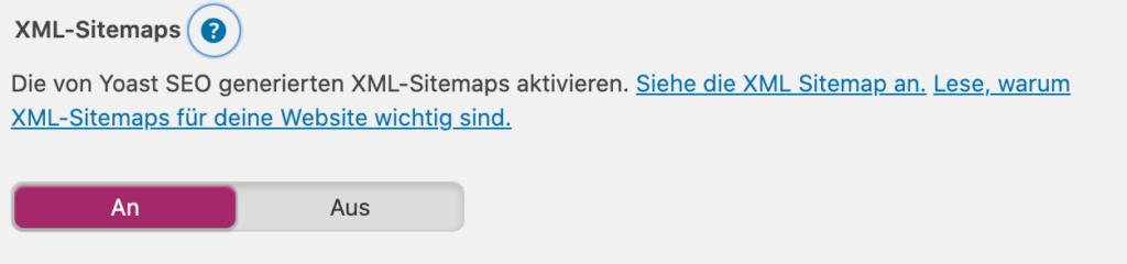 Blogging Glossar: XML Sitemap