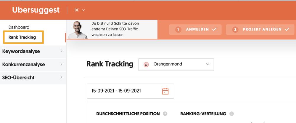 Alte Blogartikel aktualisieren - mehr Traffic mit wenig Aufwand-ubersuggest-rank-tracking